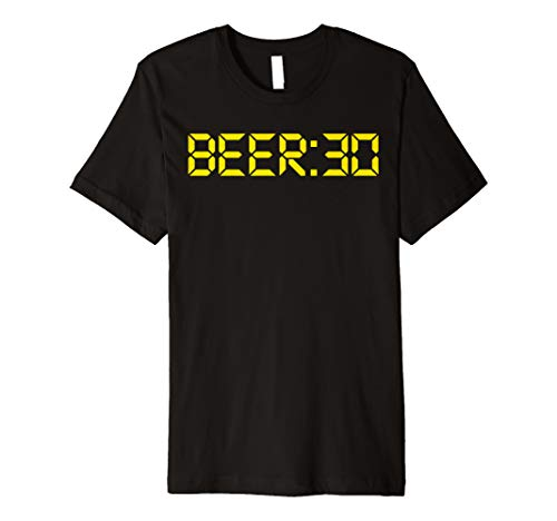 (Beer Thirty funny Beer:30 Beer Drinking Gift Tee Premium T-Shirt)