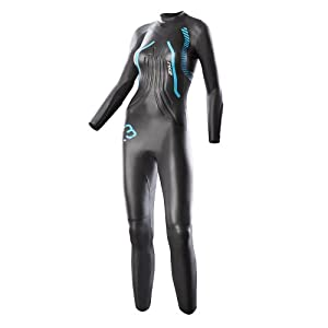 2XU Women's R:3 Race Triathlon Wetsuit (Black/Bondi Blue)