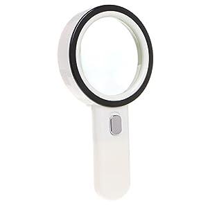 YiFeng 10X Handheld Magnifying Glass Illuminated by 12 LED Lights 80mm Large Lens