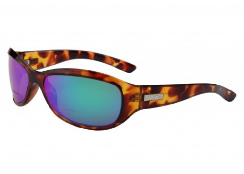 - Ono's Harbor Dock Polarized Bi-Focal Sunglasses in Tortoise with Mirrored Green Tinted Lens