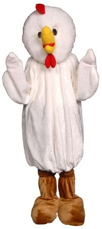 Chicken Economy Mascot Costume (Adult Regular Size) (Chicken Economy Mascot Adult Costume)