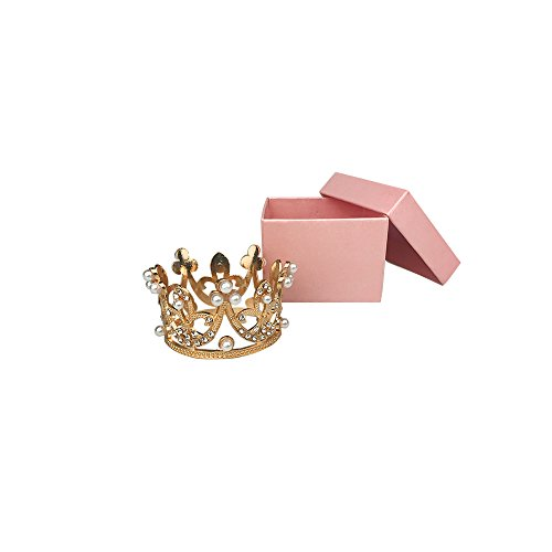 Gold Mini Princess Crown Tiara Cake Cupcake Toppers
