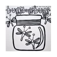 PaintaDoodle 12x12 Bug Jar by PaintaDoodle