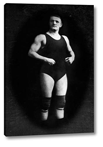 Bodybuilder in Wrestling Outfit and Knee Pads by Vintage Muscle Men - 13