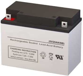 39-15 6 Volt 20 AmpH SLA Replacement Battery with NB Terminal