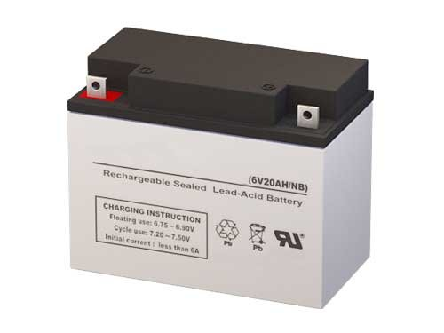 SLA0986 6 Volt 20 AmpH SLA Replacement Battery with NB Terminal