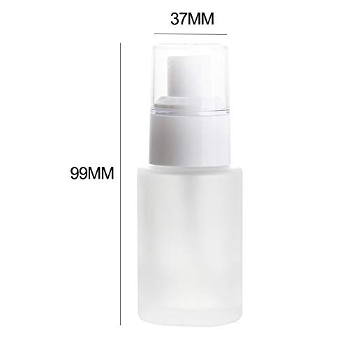 essibly11jmp 30ml/60ml Refillable Cream Dispenser Shampoo Lotion Glass Pump Spray Bottles - Transparent 30ml