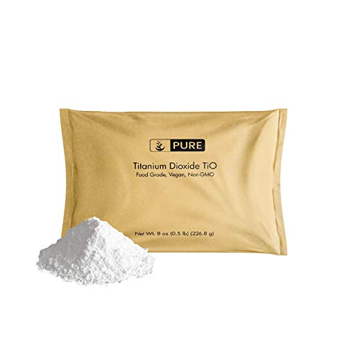 - Titanium Dioxide TiO2 (8 oz.) by Pure Organic Ingredients, Eco-Friendly Packaging, Non-Nano, Food & USP Grade, Vegan, Non-GMO
