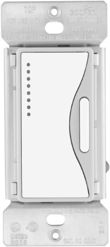 Eaton 9542WS-K 120-Volt, 60-Hertz ASPIRE Multi-Location Accessory Dimmer with Preset and LED, White Satin