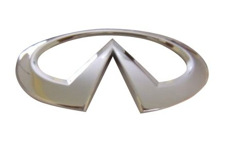 (Infiniti Nissan Genuine Factory Original OEM G35 / G37 REAR TRUNK EMBLEM CHROME MT. FUJI BUG 4DR)