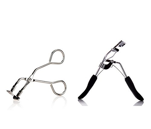 AUCH Set of 2 Eyelash Curler with a Mini Partial Eyelash Curler, Stainless Steel Natural Lash Curler, ()