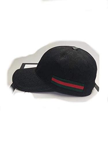 26251acfc25 SmartJewelz Original GG Canvas Baseball hat with Web Black: Amazon ...