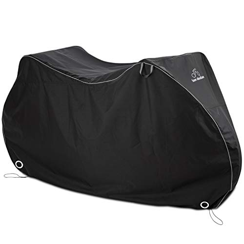 TeamObsidian Bike Cover XL - Waterproof Outdoor Bicycle Storage for 2 Bikes - Heavy Duty Ripstop Material - Offers Constant Protection for All Types of Bicycles All Through The 4 Seasons