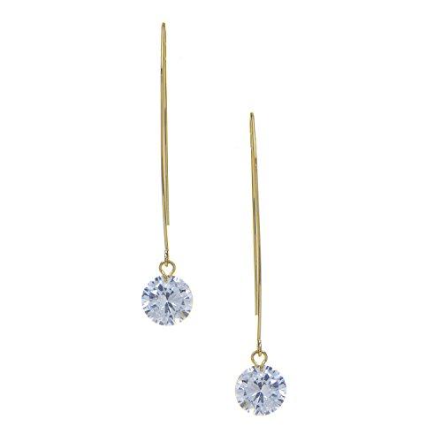 Rivka Friedman 18K Gold Clad Simulated Diamond Threader Earrings Diamond Threader Earring