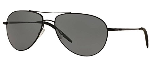 Oliver Peoples Benedict Sunglasses (Matte Black Frame, Polarized Solid Black - Mens Oliver Peoples Frames