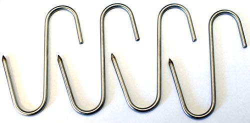 """Stainless Meat Hooks, Smoker Hook, 5"""", 4 Pack"""