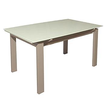 RR Design - Mesa Extensible Cristal Cocina salón Moderno 130 ...