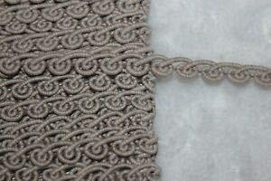1.25 Yard Tan Sandstone Gimp Rosebud Upholstery Sewing Trim 3/8