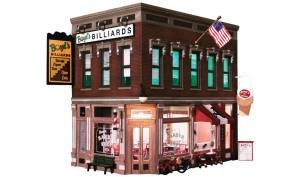 WOODLAND SCENICS PF5893 Corner Emporium O, used for sale  Delivered anywhere in USA
