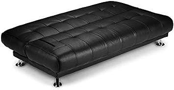 Humza Amani Venice Sofa Bed in Faux Leather Sofa Bed Black
