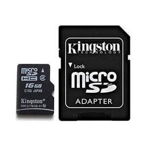 Professional Kingston MicroSDHC 16GB (16 Gigabyte) Card for Nokia C3-00 with custom formatting and Standard SD Adapter. (SDHC Class 2 Certified)