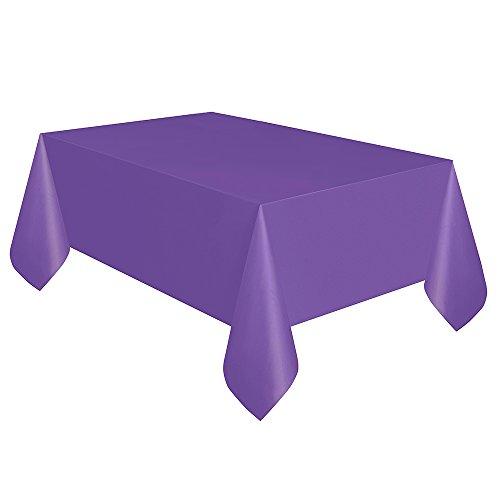 Neon Purple Plastic Tablecloth 108