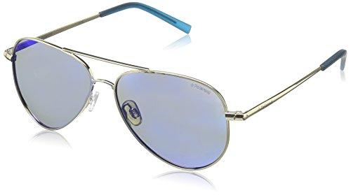 Polaroid Sunglasses PLD8015N Polarized Aviator Sunglasses, Gold/Gray Blue Mirror Polarized, 52 - Kids Sunglasses Polaroid