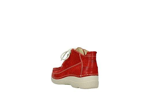 Lacets Dots 06200 Moc Confort Rouleau 90570 Red Wolky Chaussures nbsp;corde À Nubuck ZnqtxI7Bv