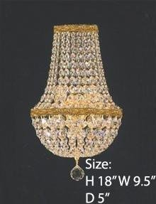 Swarovski Crystal Trimmed Wall Sconce! Empire Crystal Wall Sconce W/Swarovski Crystal Lighting W 9.5