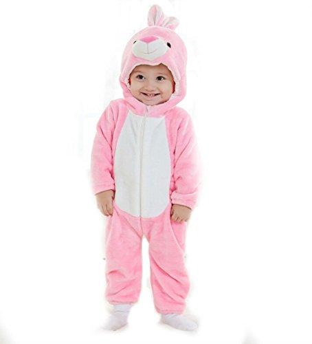 Baby Cosplay Animal Romper Animal Onesie sleepwear toddler Romper (S (76-85cm), Pink Bunny)