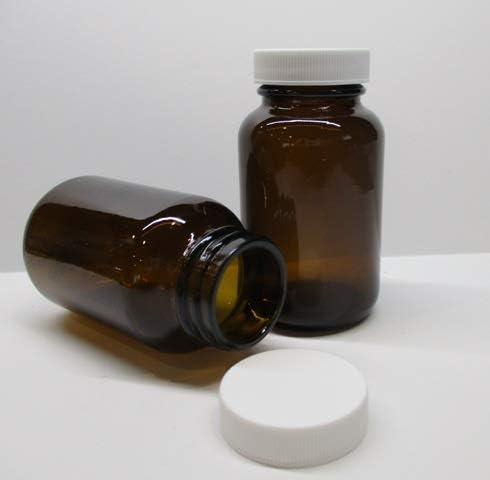4 oz.//120cc Clear PET Plastic Packer Bottle with 38-400 Cap 24 Bottles