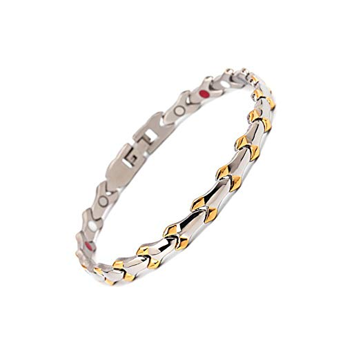ZSML Expanding Magnetic Bracelet Ladies Magnetic Health Stainless Steel Bracelet Strong Magnets in Gift Box +Free Removal Tool