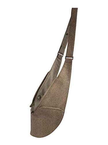 Womens Crossbody Bag by SASH - Over The Shoulder Cross Body Purse w/Compact Organized Storage, Anti Theft RFID & Adjustable Strap, Perfect for Travel or Everyday Use (Taupe Reptile Faux Leather)