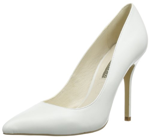 Buffalo London 112-1211 Silk Leather, Women's Closed White - Weiß (White)
