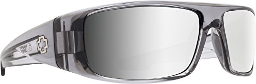 Spy Optic Logan 670939204352 Wrap Sunglasses, 60 mm (Clear Smoke/Happy Gray/Green/Silver Mirror)