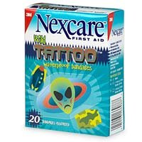 Amazon Com Nexcare Tattoo Waterproof Bandage Wild Collection