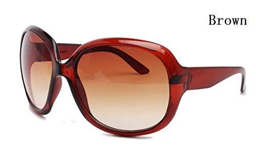 2019 Brand Summer Sunglasses Women Sun Glasses Vintage 10 Colors Big Frame Uv400,Brown (Dollar Sonnenbrille)