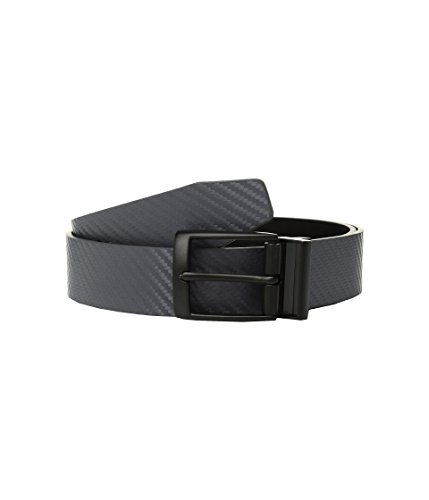 Nike Men's Carbon Fiber-Texture Reversible Belt, Dark Grey/Black, 34 - Nike Reversible Belt Accessories