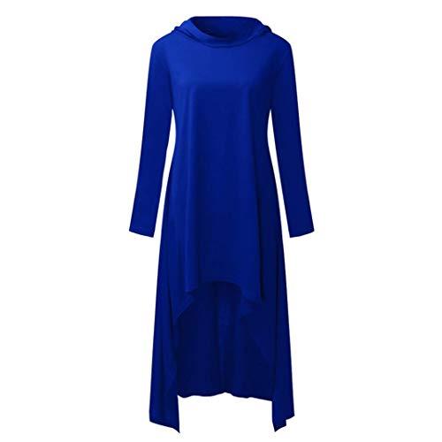 Manga de Mujer Mujer Blusa Manga Moda Sudadera Larga para con Sonnena Urbano Camiseta Delgada Otoño Fashion Vestido de Capucha Larga Suéter para Azul Tops Manga Suelta Larga Mujer de W6OUSWr
