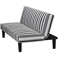 Little Seeds Rowan Valley Quince Futon, Black/White