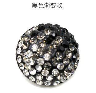 Maslin 6pcs/lot Black Gradient Coat Button Suit Sweater Dress Button Bride Headdress Hand Bouquet DIY Material - (Color: Black Gradient, Size: 26mm) ()