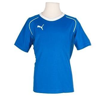 Puma V5.08 Camiseta de Fútbol Manga Corta Jr - Azul - Blanco, 128