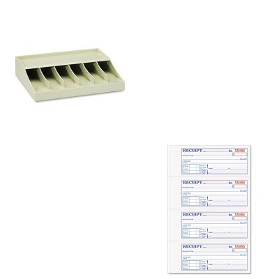 KITMMF210470089TOP46806 - Value Kit - Tops Money and Rent Receipt Books (TOP46806) and MMF Bill Strap Rack (MMF210470089)
