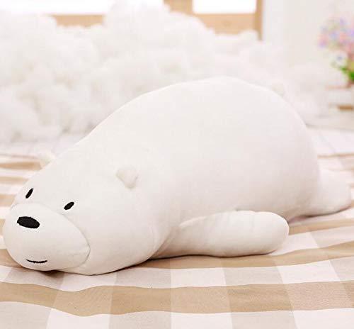 Stuffed & Plush Animals - 50cm Cartoon We Bare Bears Lying Bear Stuffed Grizzly Gray White Bear Panda Plush Toys for Children Kawaii Dolls for Kids Gifts - Toy Animal Old Soft Girls Year