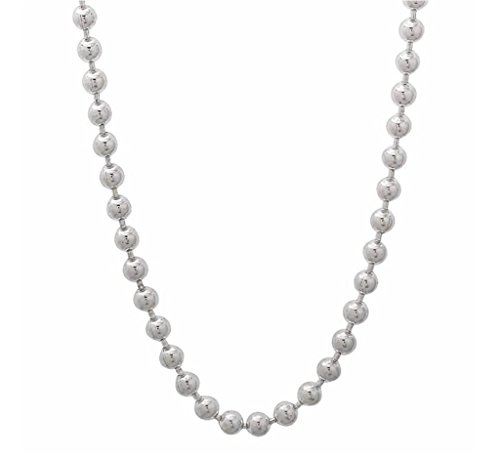 Cabochon Chain Necklace (1pc x Top Quality 16 Inch Sterling Silver 1.0mm Ball Link Necklace Chain with Clasp #SS130)