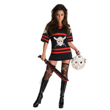 Sexy Jason Costumes (Miss Voorhees Costume - X-Small - Dress Size 2-6)