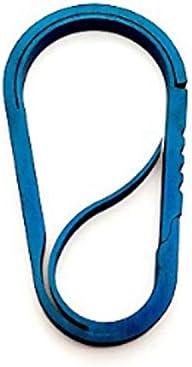 Schlüsselanhänger Titanlegierung TC4 One Spring Anti-Lost Light Leicht zu tragen,Einfach zu bedienen (Color : C)