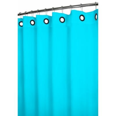 DINY Bath Elements Heavy Duty Magnetized Shower Curtain Liner Mildew Resistant Turquoise
