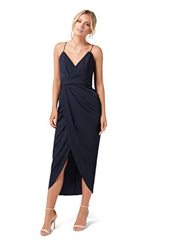 Ever New Womens Charlotte Drape Maxi Dress Navy ()