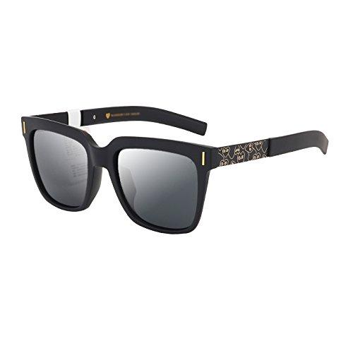 Gafas Las la Cara C Hombres de de Mm Que Las de Sol Marea conducen la Gafas de de C de WFL Los Cuadrados Sol Personalidad n5UzII